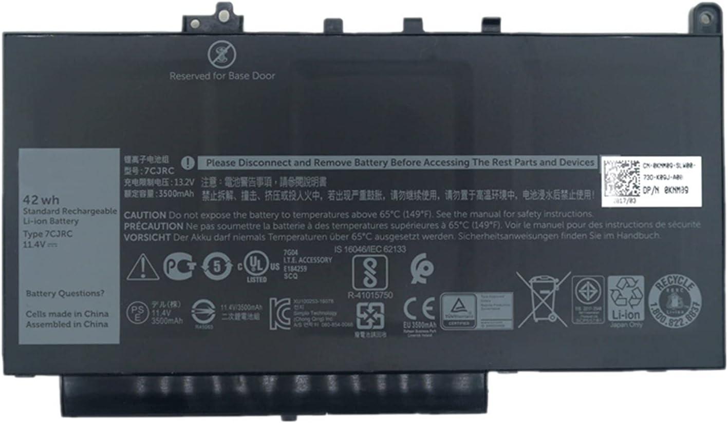 Dentsing 7CJRC 21X15 Laptop Battery for Dell Latitude E7470 E7270 11.4V 42Wh