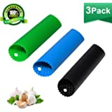 Garlic Peeler Skin Remover Roller Keeper,Easy Quick to Peel Garlic Cloves with Best Silicone Tube Roller Garlic Odorfree Kitc