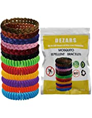 12 Pack Repellent Bracelet - 100% Natural Plant-Based Oil, DEET Free & Non-Toxic Repellent Wristbands for Kids, Adults & Pets, Waterproof in Multiple Colors