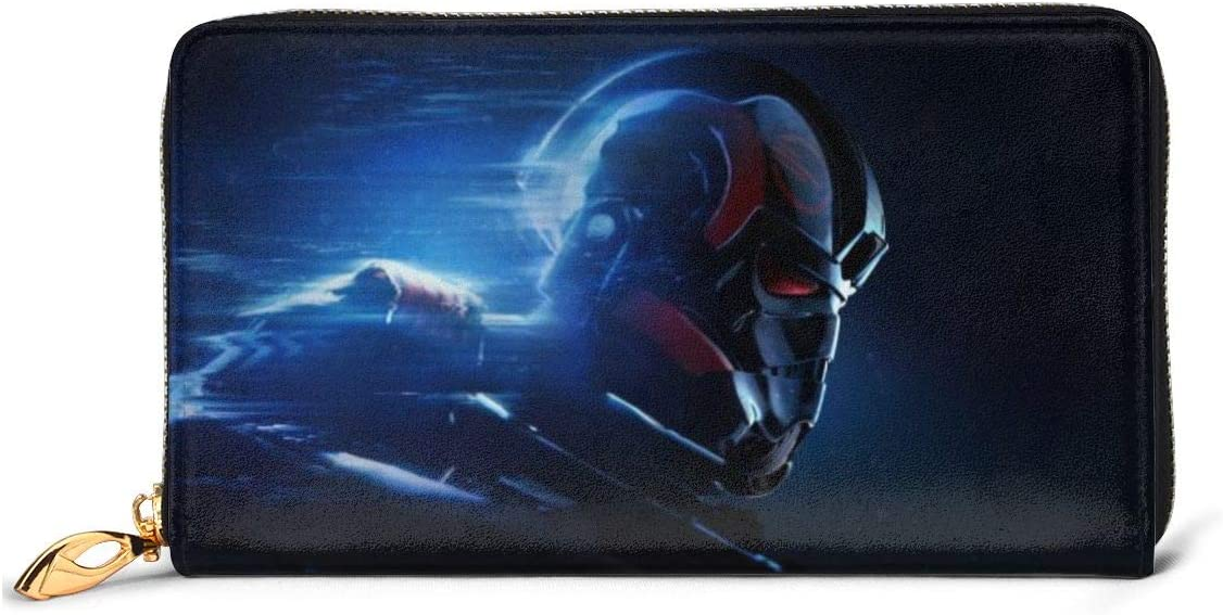 Star Wars RFID Wallet Blocking Genuine Leather Wallet Zip Around Card Holder Organizer Clutch Wallet Large Capacity Purse Phone Bag For Men Women