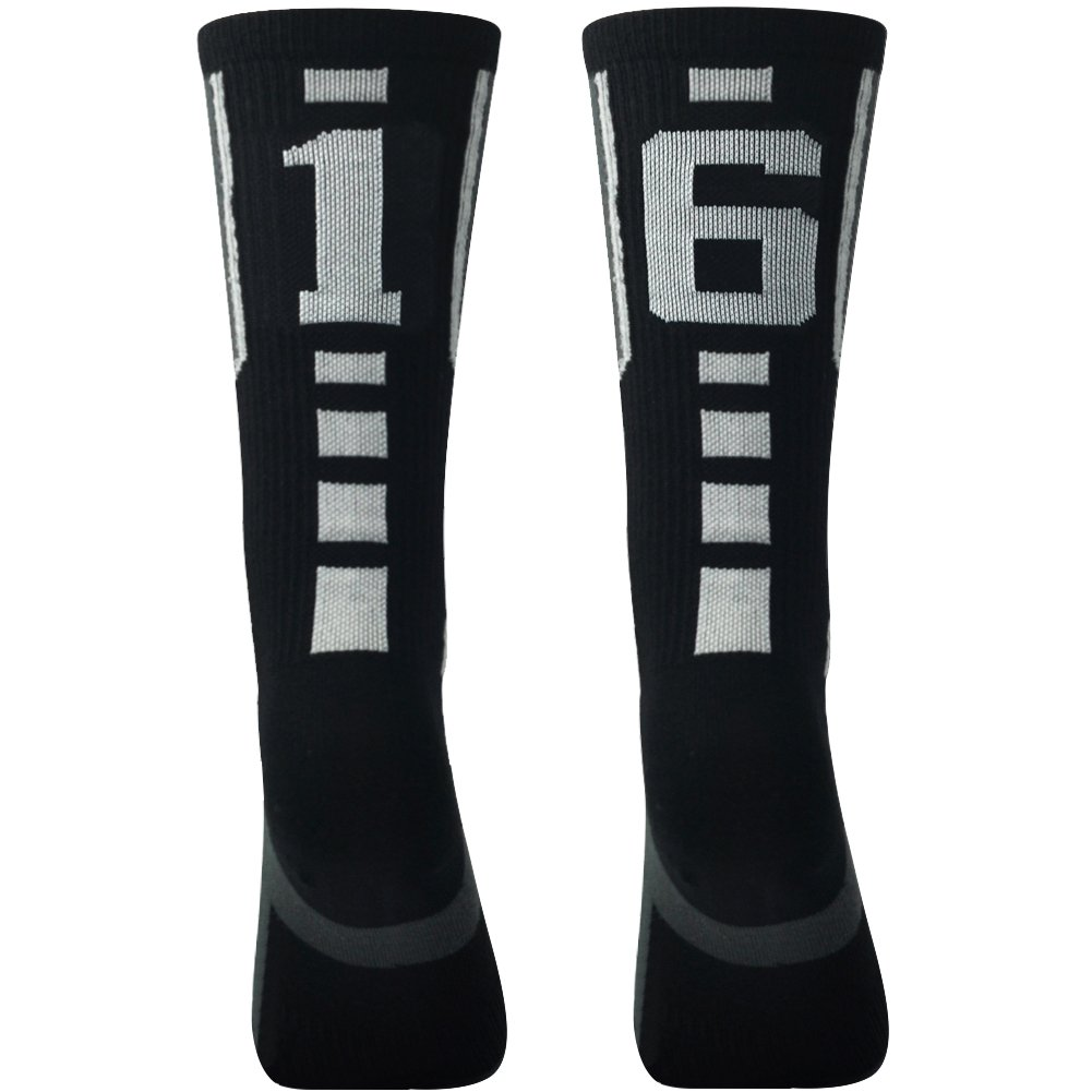 Soccer Socks Comifun Adults Teens Athletic Player Custom Team Number ID Socks Football Socks 1 Pair