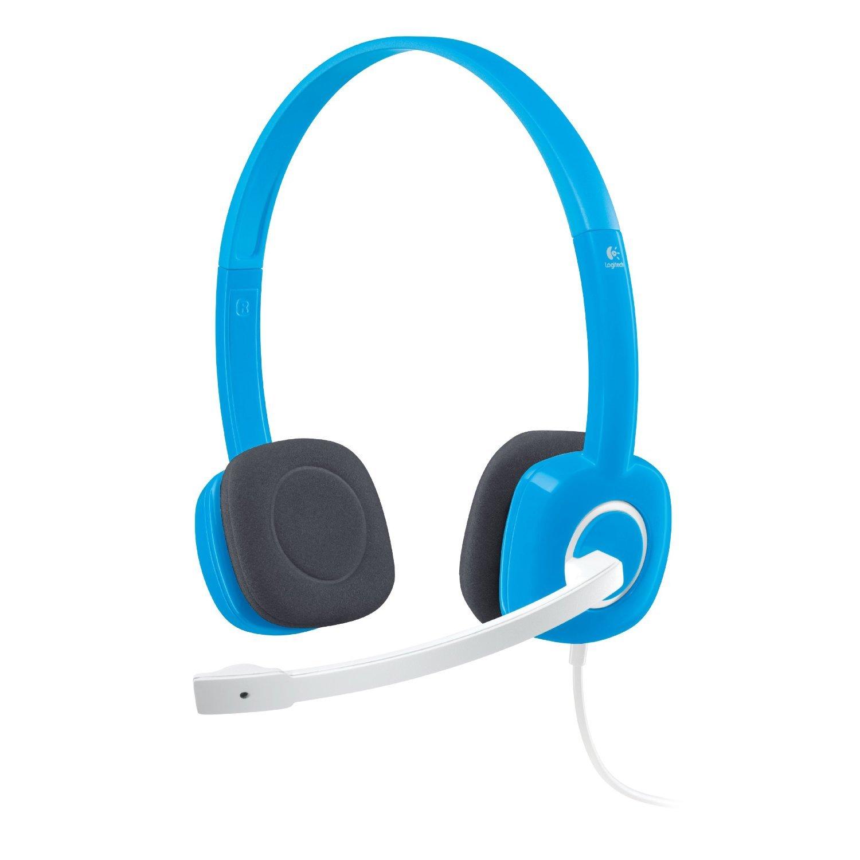 Logitech 981-000368 - Auriculares de diadema abiertos (control remoto integrado, reducción de ruido) color azul: LOGITECH: Amazon.es: Electrónica