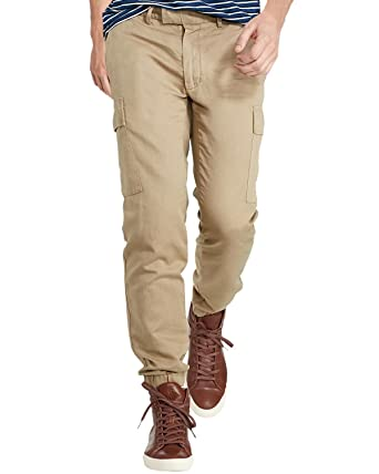 daa6871ba Ralph Lauren Polo Men's Twill Cargo Jogger Pants (30x30, Sahara Gold) at  Amazon Men's Clothing store: