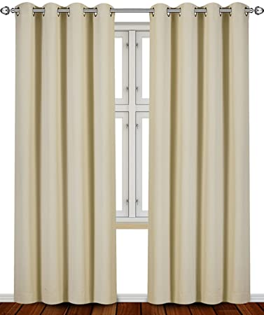 Curtains Ideas 86 inch curtain panels : Amazon.com: Blackout, Room Darkening Curtains Window Panel Drapes ...