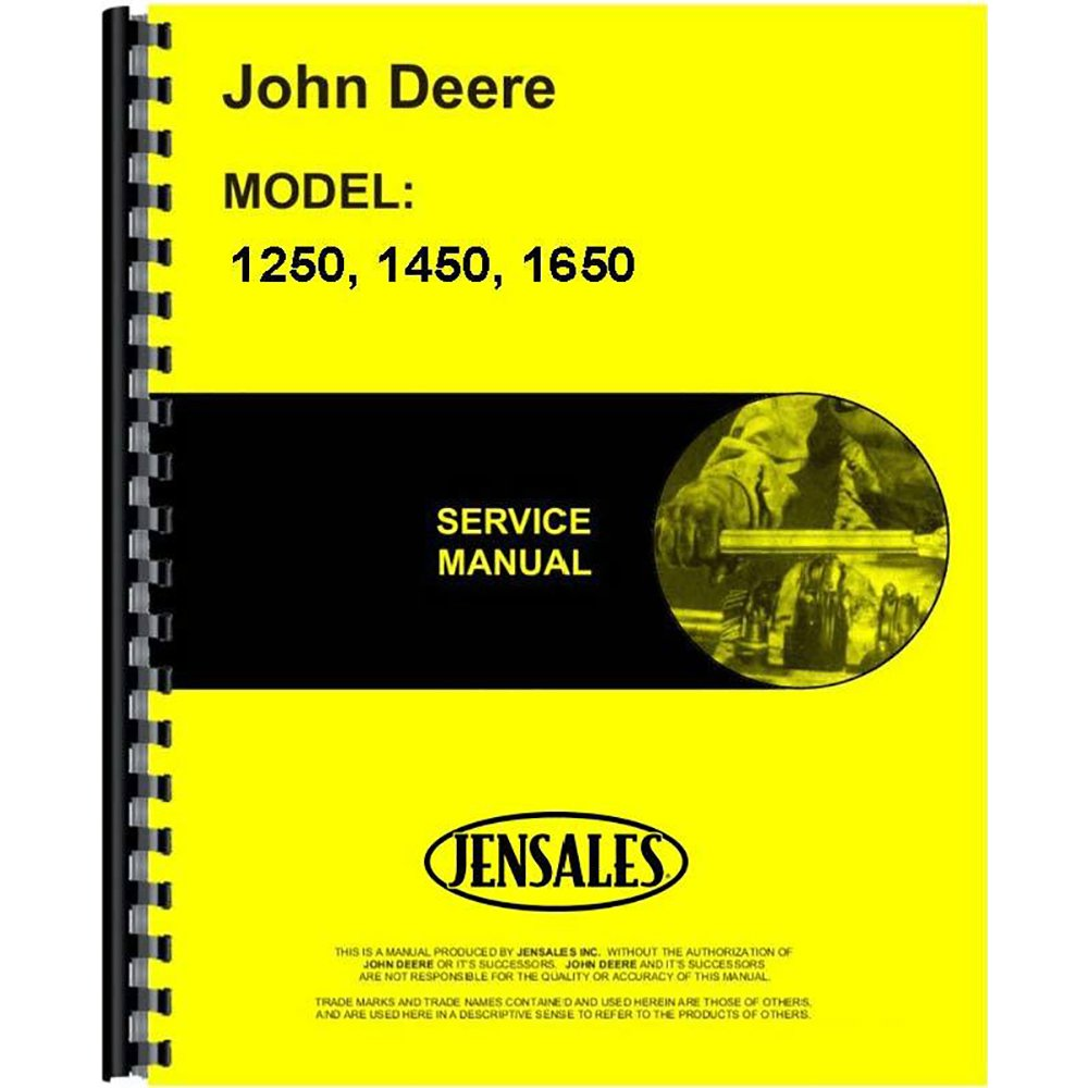 Amazon.com: New John Deere 1250 Tractor Service Manual (Includes 2  Volumes): Industrial & Scientific