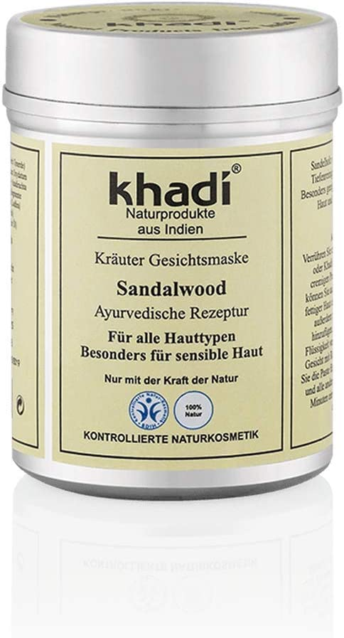 KHADI Mascarilla Facial - Sándalo Para pieles secas - Alisa las líneas de expresión - Combate las imperfecciones