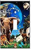 Single Gang Toggle Wall Plate - Animal Kingdom