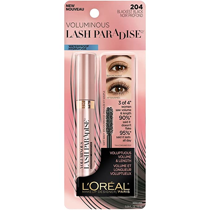 LOREAL Voluminous Lash Paradise Mascara - Blackest Black: Amazon.es: Belleza
