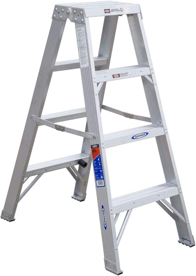 Werner T374 doble paso escalera, aluminio: Amazon.es: Coche y moto