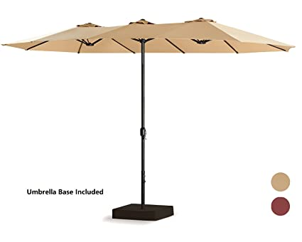 patio tree 15 ft outdoor umbrella double sided market patio umbrella crank 100 - Umbrella Patio