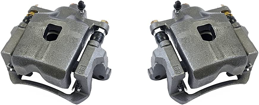 Callahan CCK03282 REAR Premium Grade OE Semi-Loaded Caliper Assembly Pair Set 2