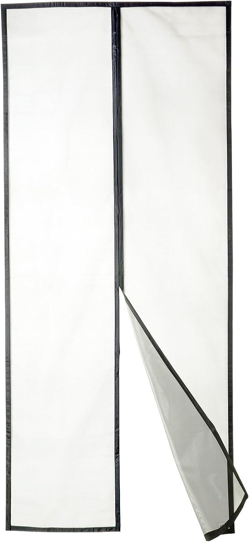 Apalus Cortina Mosquitera Para Puertas de 90x210cm, Tejido Súper Fino Para Dejar Pasar El Aire.Cierre Magnético Automático (90x210CM Fibra Negro)