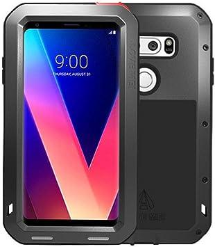 LG V30 Funda, Love Mei Metal [Aluminio] y Silicona Antigolpes ...