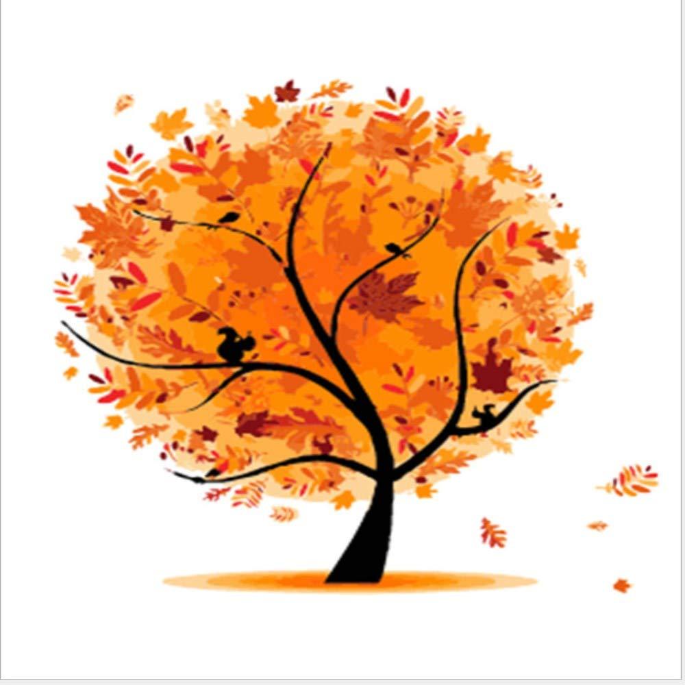 Wwdfdd Sin Marco árbol De Arce Diy Dibujo A Colorear Mano Lienzo