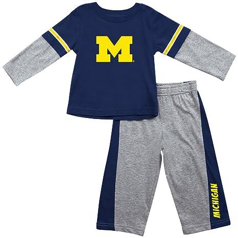 4ff537647f0 Amazon.com   Colosseum Michigan Infant Long Sleeve Tee and Pants ...