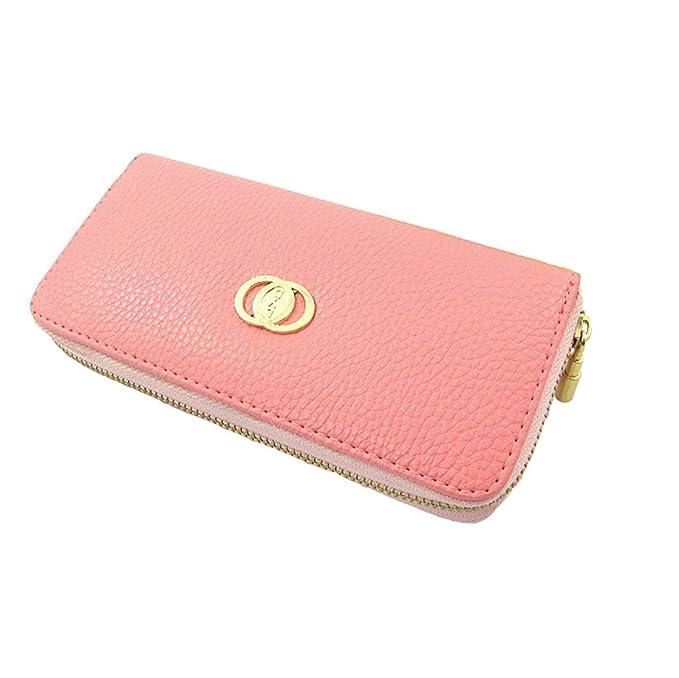 Anself Fashion Cartera Bolso Metal Cremallera carpetas Teléfono portatarjetas Purse rosa talla única: Amazon.es: Ropa y accesorios