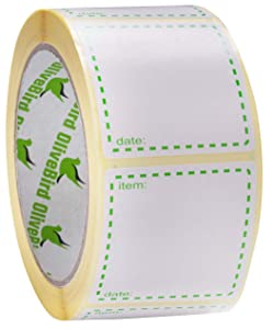 500 x Removable Labels On Roll, Size 2 x 2 Inches Square Use as Food Labels