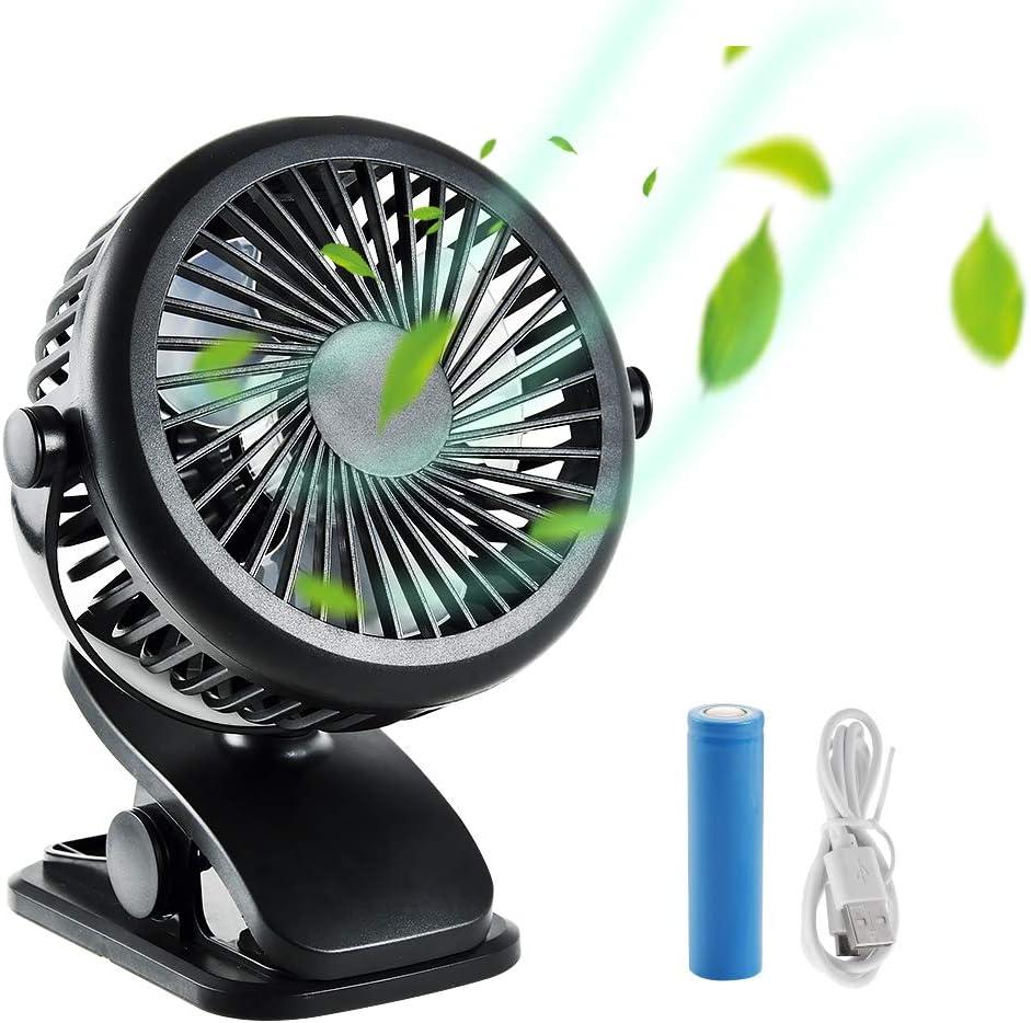 Mini ventilador personal recargable, Stanbow pequeño silencioso ...