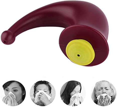 Color:Wine Red /& Yellow Nasal Rinsing Nose Wash System Neti Pot Sinus Irrigation Sinuses Cleaner for Complete Sinus Cleansing Wash Irrigation Relief