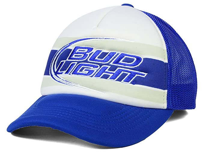 d8ba6436b47 Image Unavailable. Image not available for. Color  Budweiser Bud Light Beer  Men s Anheuser-Busch Flash Foam Trucker Hat Cap ...
