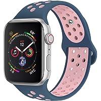 jwacct Correa Compatible para Apple Watch 38mm 40mm 42mm 44mm, Correa de Repuesto de Silicona Suave para iWatch Series 4/3/2/1