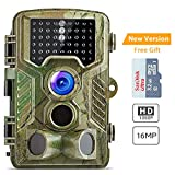 """COOLIFE Trail Camera 1080P 16MP Wildlife Camera Motion Activated Night Vision 65ft with 2.4"""" LCD Display IP56 Waterproof Design for Wildlife Hunting and Home Security"""