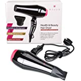Wazor 1800W Power Professional Negative Ions Hair Dryer With 2 Speed And 3 Heat + Cool Button Settings Fast Drying UK Plug ,Black