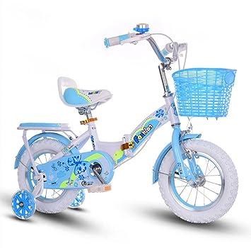 YMXLQQ Bicicleta plegable 16-18 pulgadas pupila niño niña bicicleta rosa Bicicletas para niños (