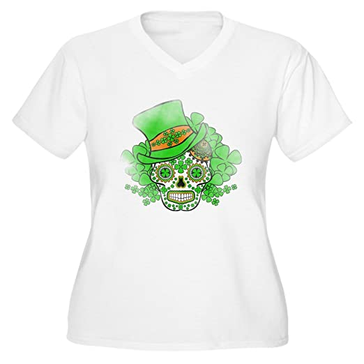 6ce0a2cd03df Image Unavailable. Image not available for. Color: CafePress - St.Patricks  Day S Women's Plus Size V-Neck T-Shirt