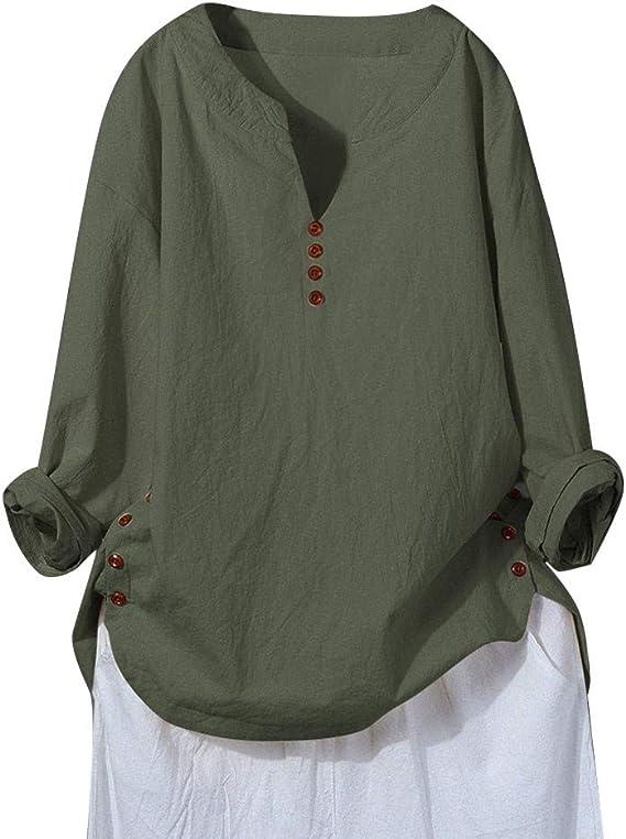 Übergröße Damen Baumwolle Leinen Kurzarm Sommer Katzen Tunika Shirt Top Bluse