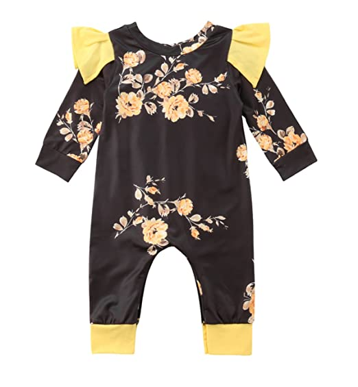 Clothing, Shoes & Accessories Other Newborn-5t Girls Clothes Baby Clothes Girl Tu Floral Cotton Summer Romper 12-18 Months