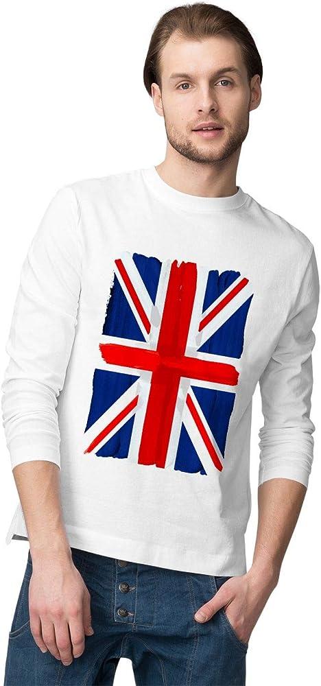 BLAK TEE Hombre Union Jack Hand Painted Grunge United Kingdom UK Flag Camisa De Manga Larga S: Amazon.es: Ropa y accesorios