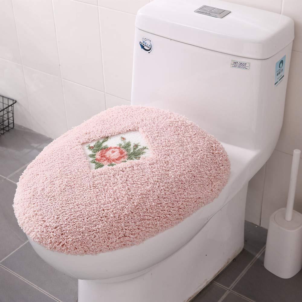 JSJ_CHENG Pink Lid Cover Rose Floral by JSJ_CHENG