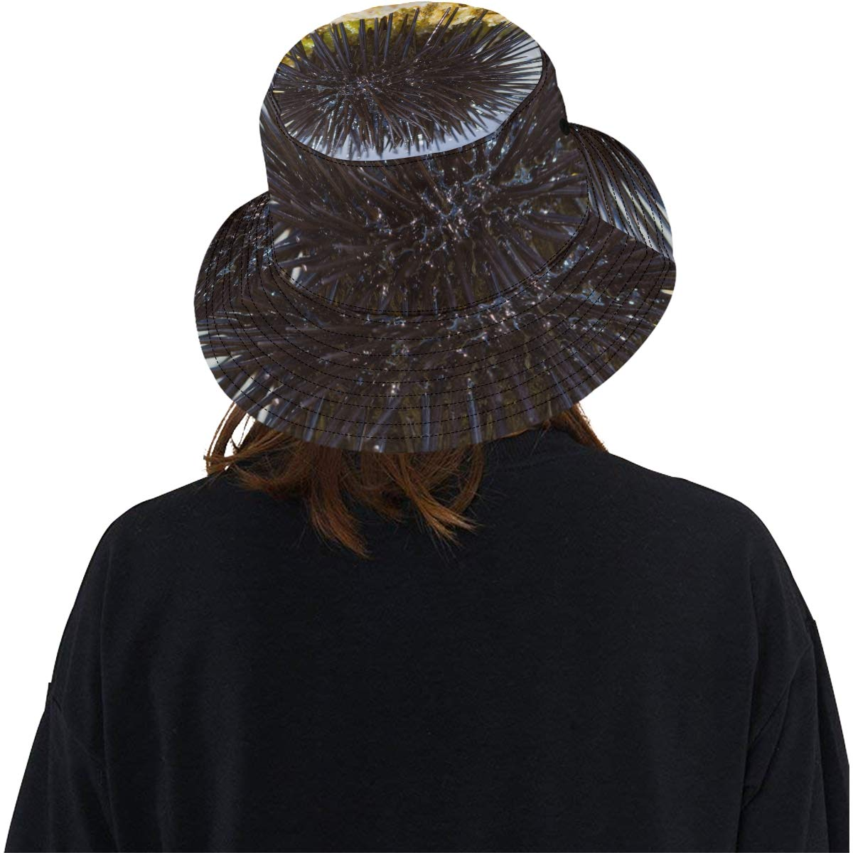 Sea Urchin Covered with Thorns New Summer Unisex Cotton Fashion Fishing Sun Bucket Hats for Kid Teens Women and Men with Customize Top Packable Fisherman Cap for Outdoor Travel
