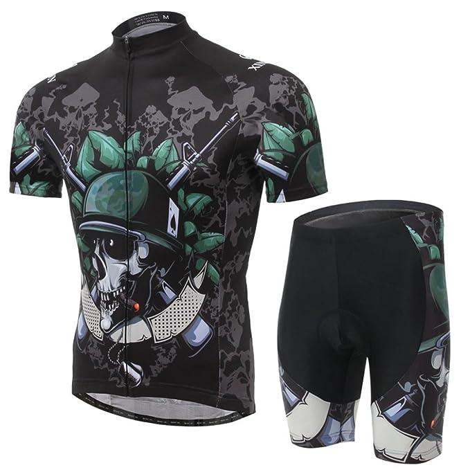 a9bca56a0 Amazon.com  Summer Hero Men Short Sleeve Cycling Jersey Shirts Pants  Coolmax Pad Iron Man Spiderman Superman Captain America Batman  Sports    Outdoors