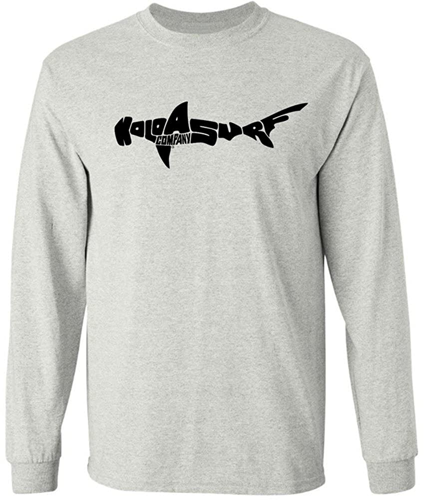 f66bd89b6 Amazon.com: Koloa Surf Shark Logo Long Sleeve Heavy Cotton T-Shirts in  Regular, Big & Tall: Clothing