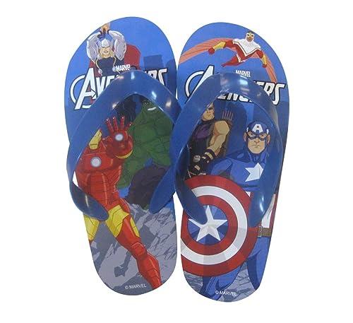 Marvel Avengers Captain America Kids Flip Flops Thongs Childrens Beach Sandals
