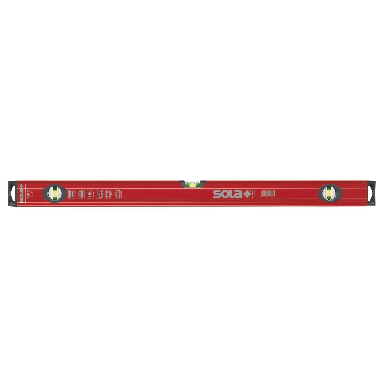 Sola 1215301 rouge 3 100 Niveaux /à bulle /à profil/é tubulaire 100 cm Rouge