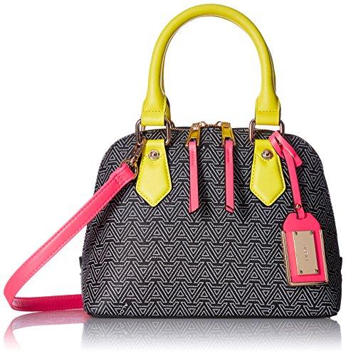 Aldo Collet Top Handle Handbag,  Black/White