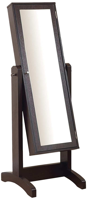 Amazoncom ioHOMES Cheval Mirror and Jewelry Armoire Espresso