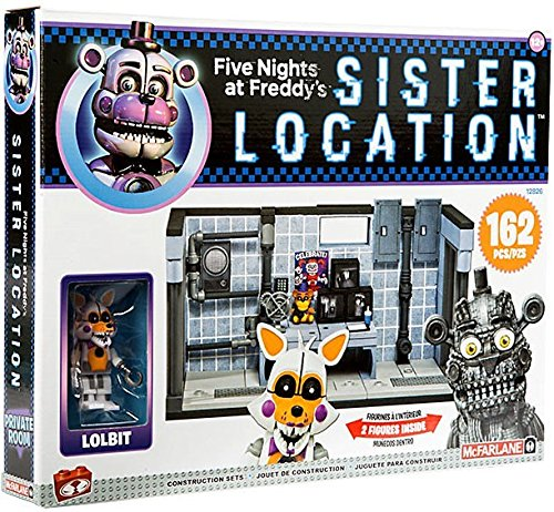 Five Nights At Freddys Sister Location Series 3 Private Room Construction Set With Lolbit And Jumpscare Freddy Figures