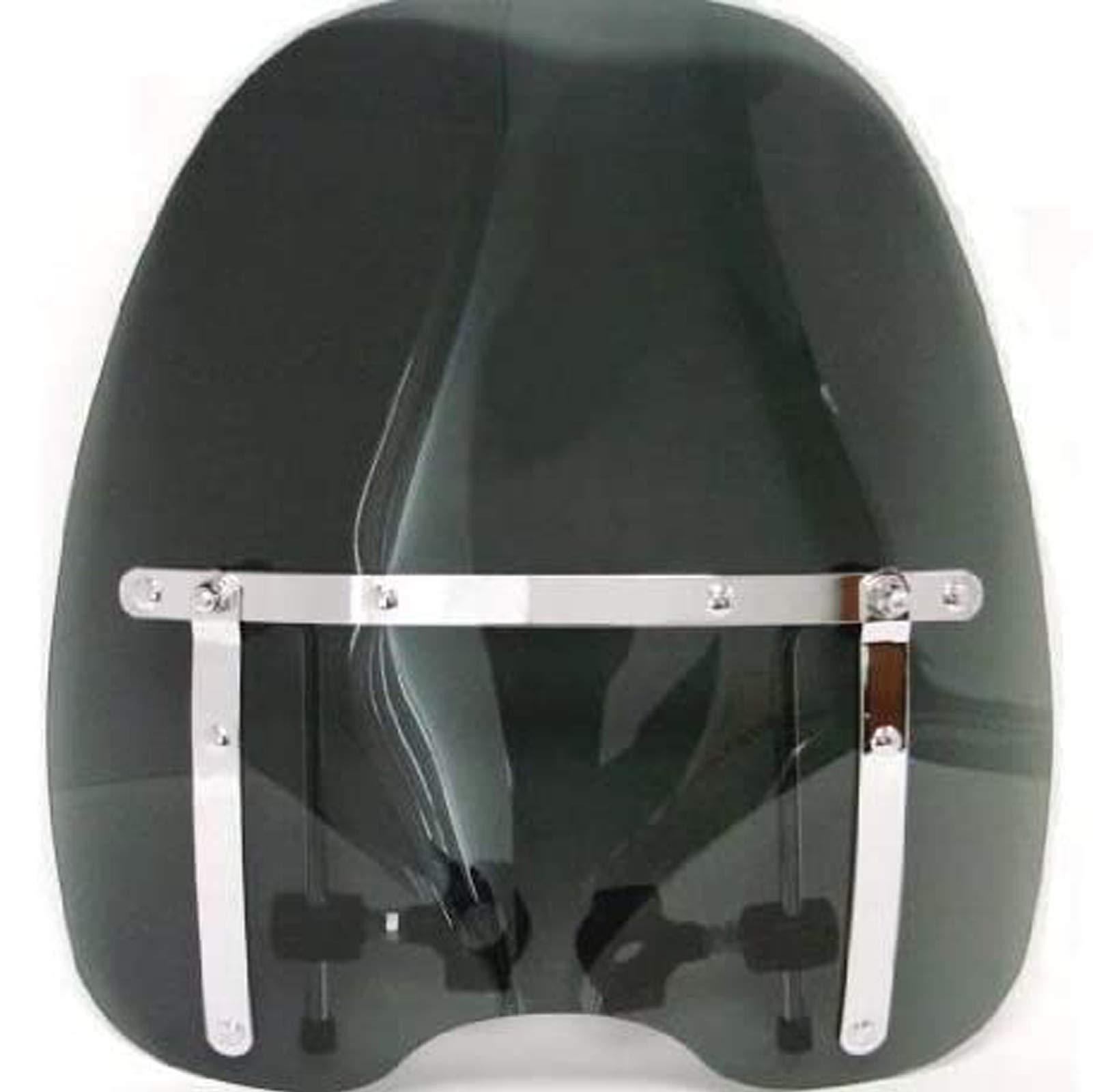 Smoke 1816 Tinted Windshield Windscreen Compatible With Kawasaki Yamaha Honda Suzuki Harley Motorcycle