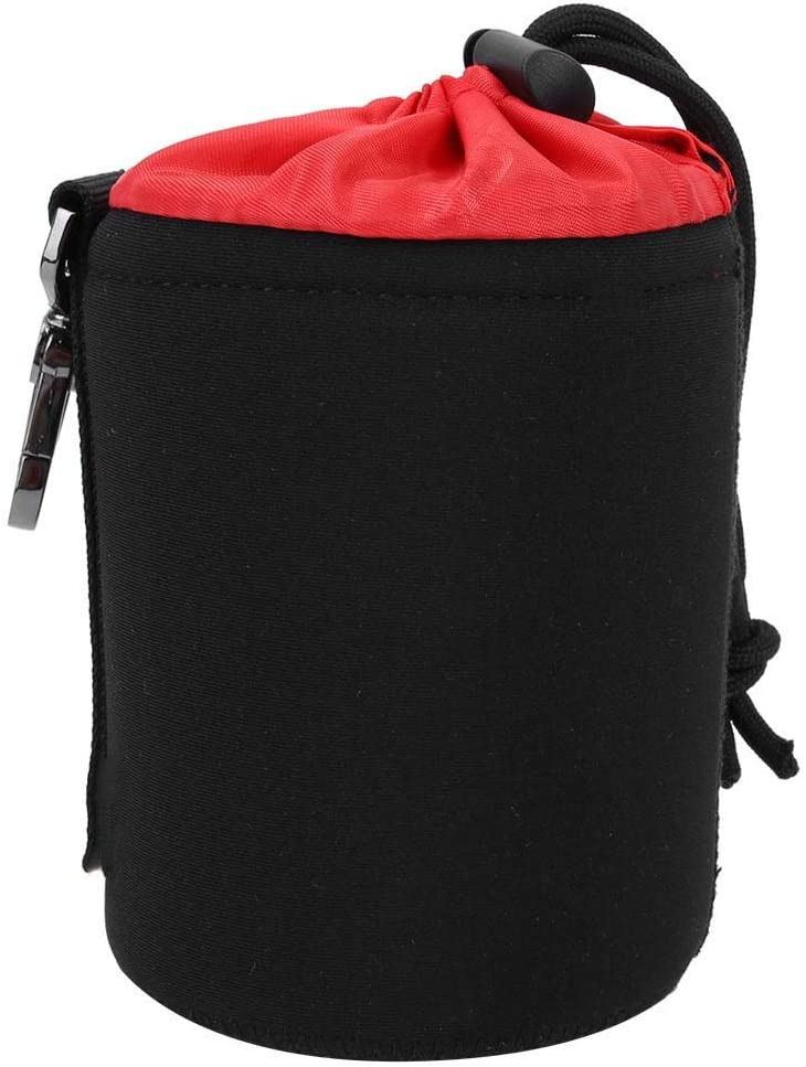 Neoprene Portable Lens Protective Bag Waterproof Lens Case with Metal Buckle for Nikon for Canon for Sony Lens Mugast Lens Case M