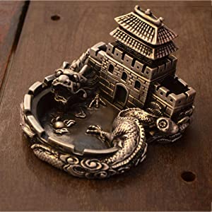 YJ-accessories Chinese Style high-end Creative Retro Great Wall Ashtray Chinese Tea Table Desk