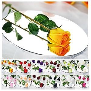 Efavormart 24 pcs Single Stems Artificial Roses Wedding Flowers for Centerpiece Decoration 89