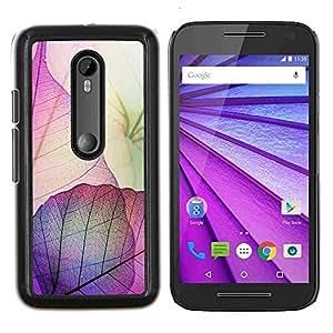 LECELL--Funda protectora / Cubierta / Piel For Motorola MOTO G3 3rd Gen -- Purple Pink Otoño Pascua Otoño --