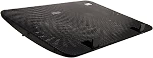 Cideros Ultra Slim Laptop Cooling Pad 11-15.6 Inch USB Powered Notebook CPU Cooler with 2 Fans and Dual USB Ports, Adjustable Wind Speed and Quiet Operation Ultra-portable Radiators, Black