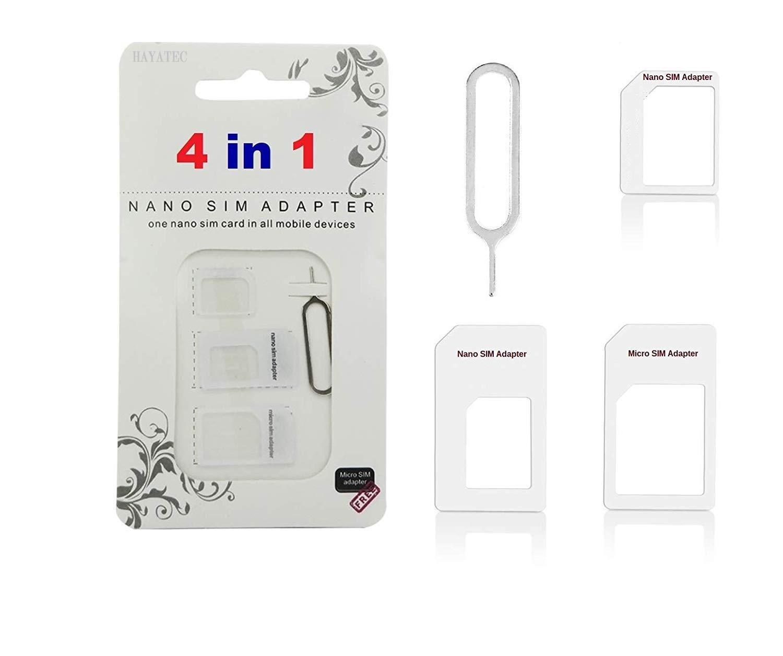Adaptador 4 en 1 de tarjeta nano SIM a micro SIM para iPhone ...
