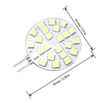 Grv G4 24 5050 Smd Led Bulb Lamp Super Bright Cool White Acdc 12v