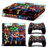 FriendlyTomato PS4 Console and DualShock 4 Controller Skin Set - SuperHero - PlayStation 4 Vinyl